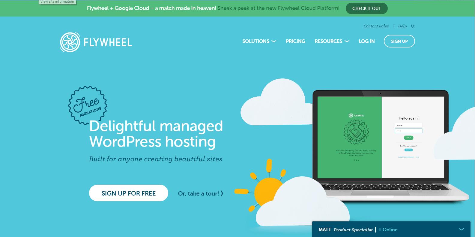 Flywheel WordPress Hosting
